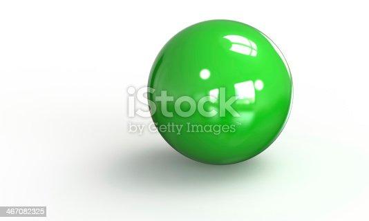 453066423 istock photo green ball shpere 3d model isolated on white 467082325