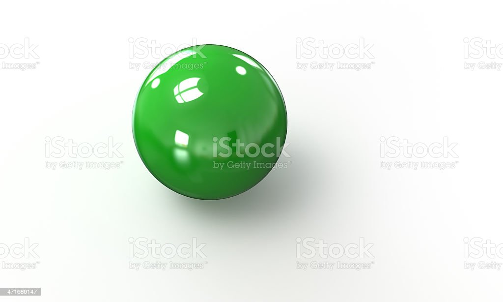 green ball shpere 3d model isolated on white royalty-free stock photo