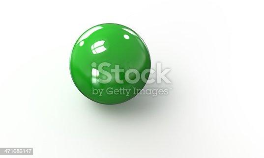 453066423 istock photo green ball shpere 3d model isolated on white 471686147
