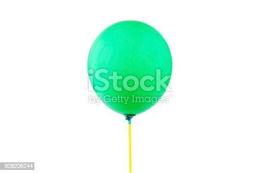 istock Green balloon isolated 928206244