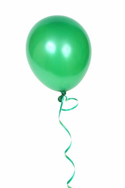 Green balloon stock photo
