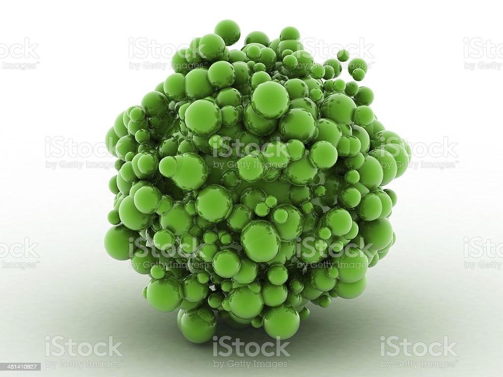 Verde pelotas - foto de stock