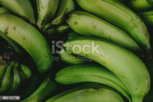 Green banana background