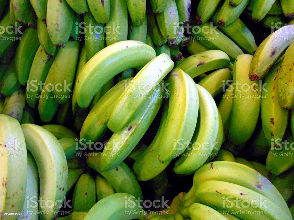 Verde de Banana no mercado - foto de acervo
