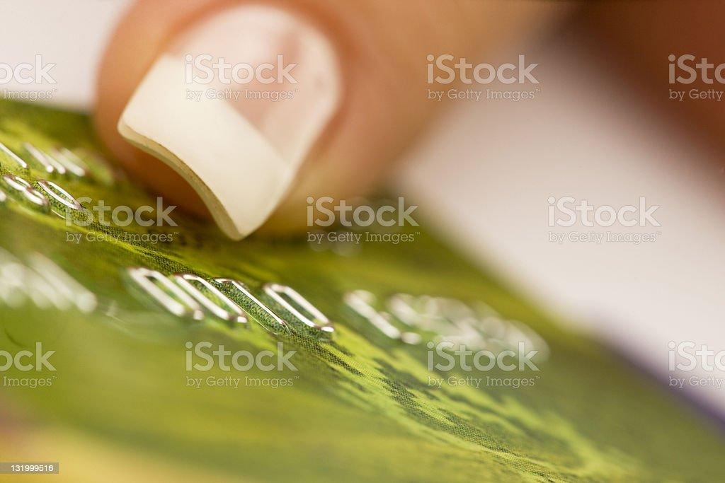 Green bankcard XXL royalty-free stock photo