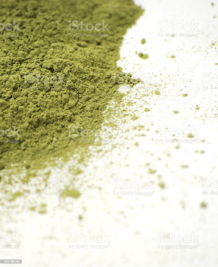 Green Barley Grass Powder stock photo