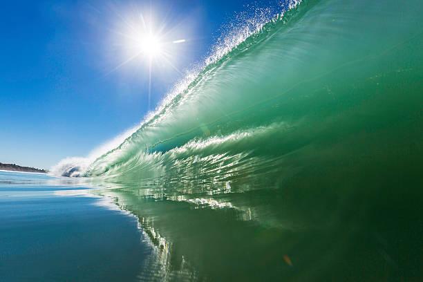Green Barrel Reflection stock photo