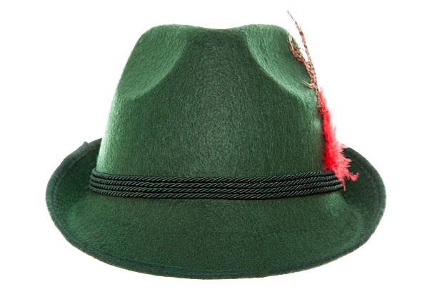 Green bavarian hat stock photo