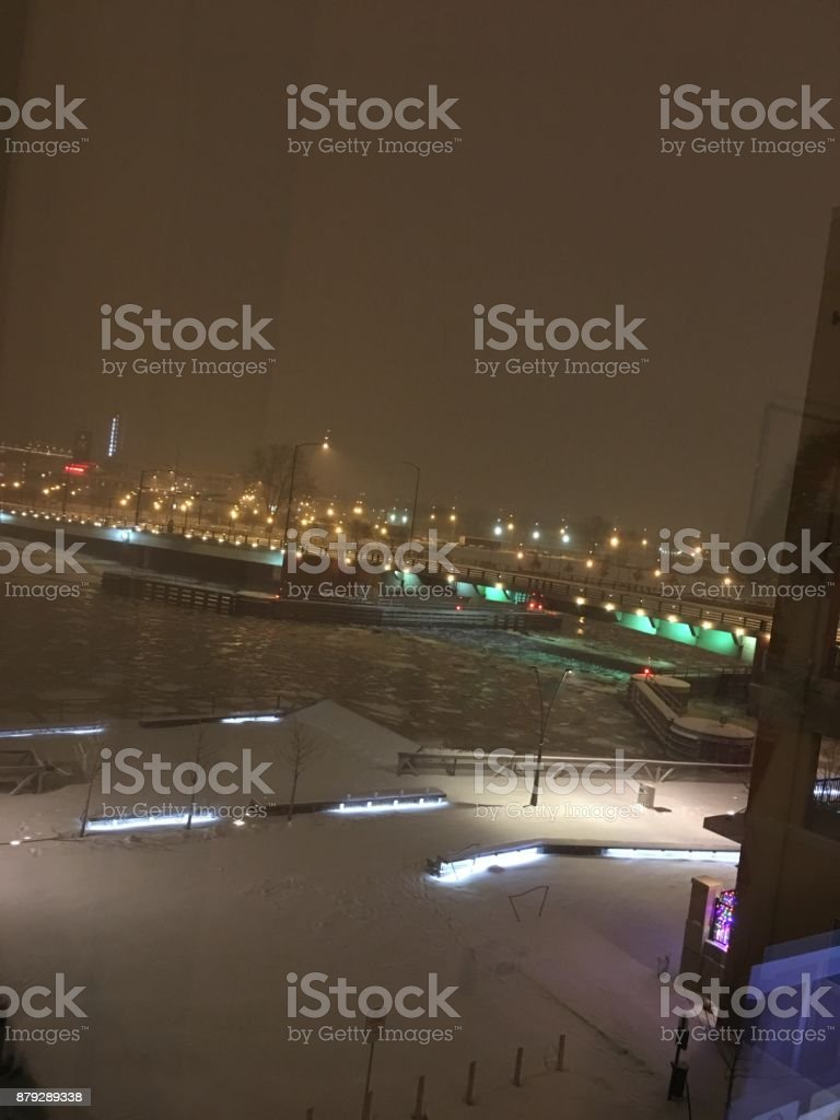 Green Bay in the Winter stock photo