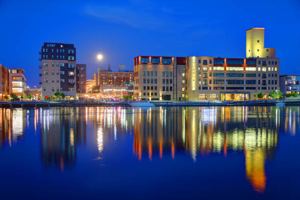 green bay, wisconsin - green bay wisconsin stock photos and pictures