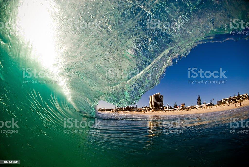 Green Beach Break stock photo