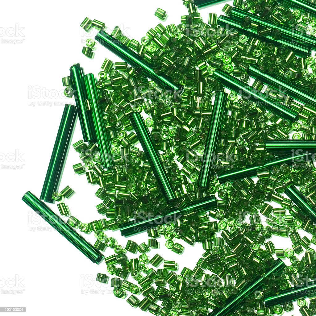 Green beads royalty-free stock photo