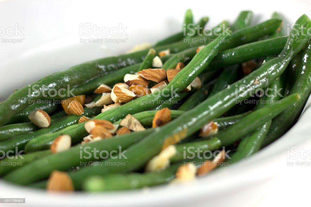 Green Bean Almandine stock photo