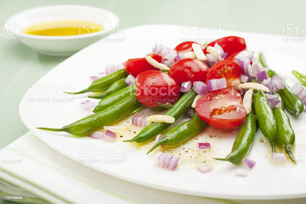 Green Bean and Tomato Salad royalty-free stock photo