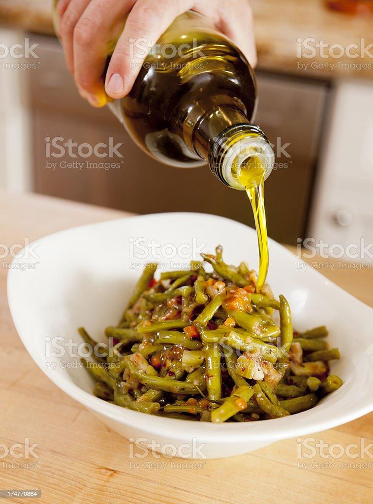 Green Bean Antipasti royalty-free stock photo