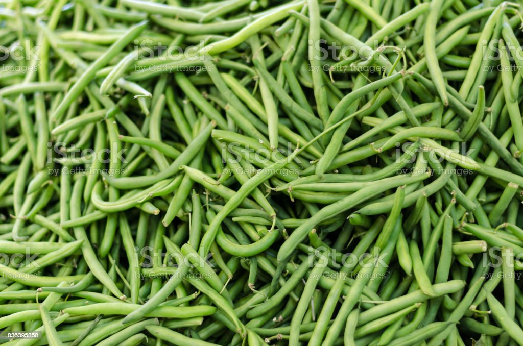Green beans background stock photo