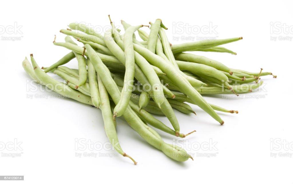 孤立在白色背景上的青刀豆 免版稅 stock photo