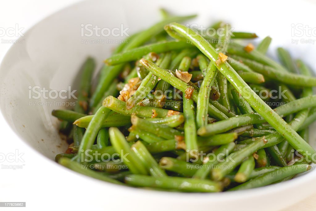 Haricot verts stock photo
