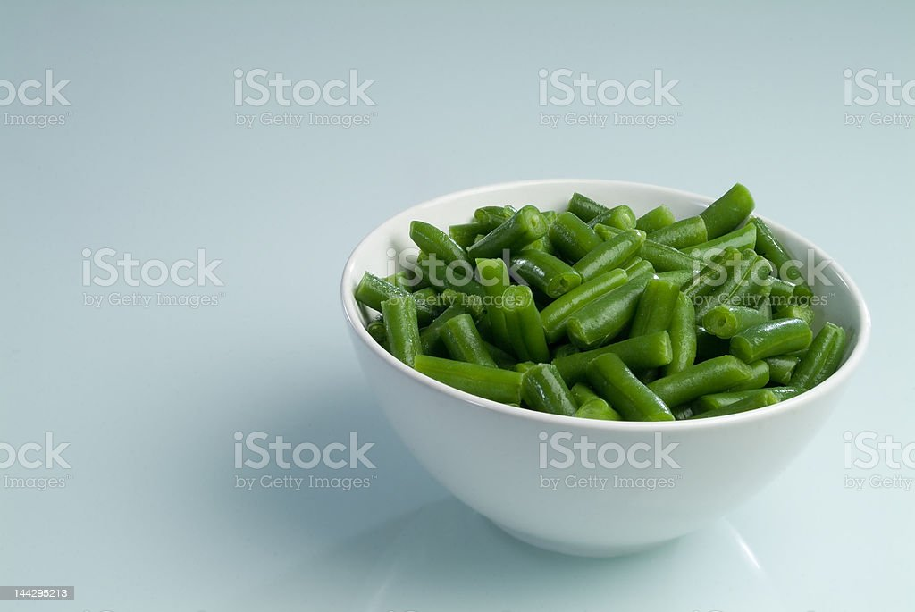 Green beans plate royalty-free stock photo