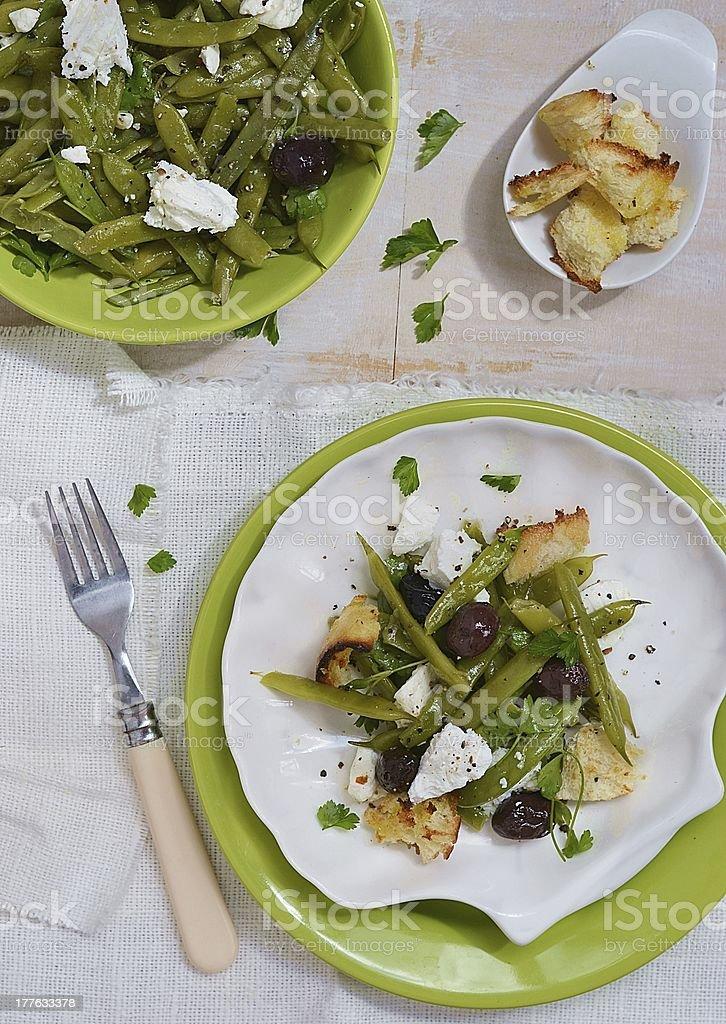 green beans salad royalty-free stock photo