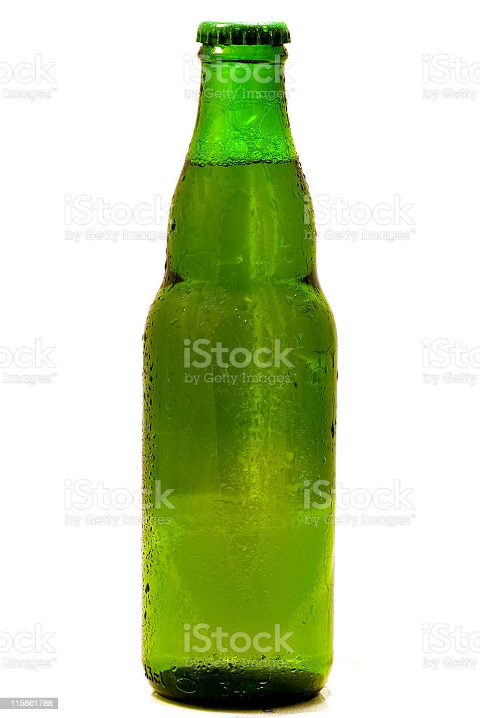 Green beer bottle royalty-free stock photo