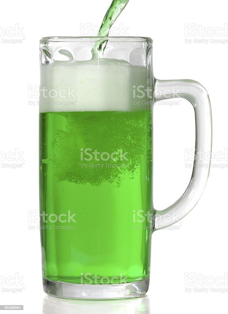 Grünes Bier Bierkrug Lizenzfreies stock-foto