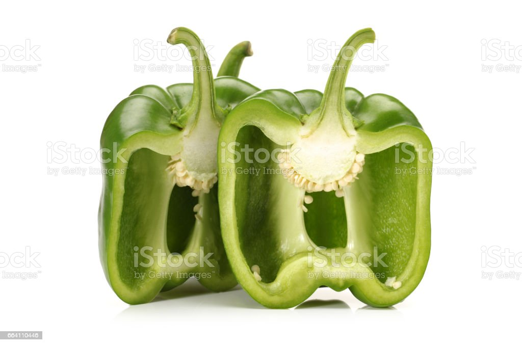 Green bell pepper isolated on white background foto stock royalty-free