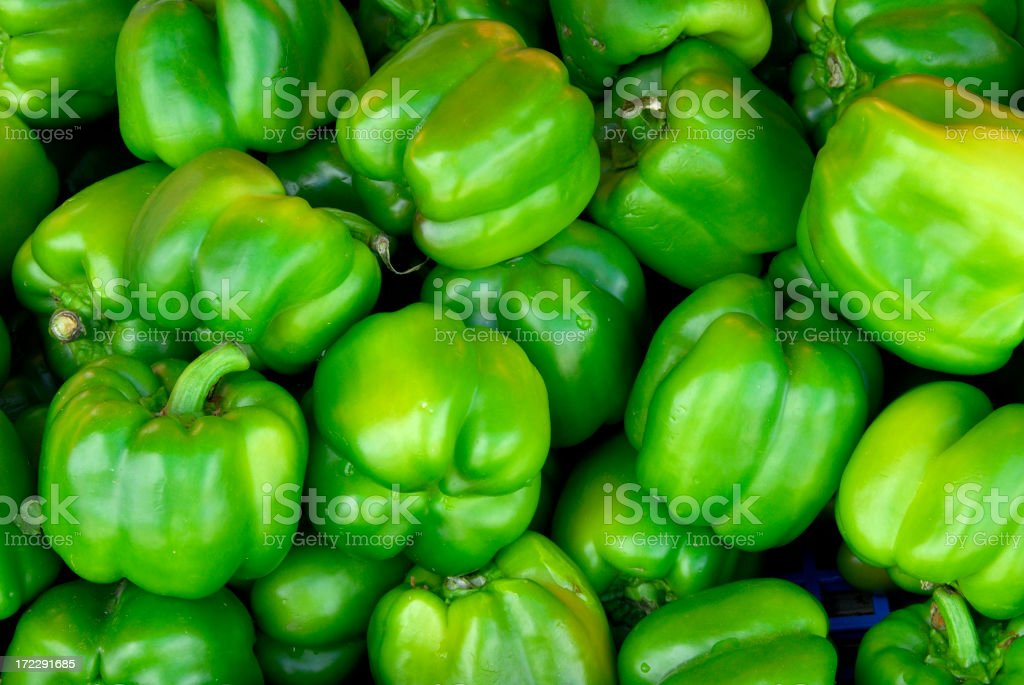 Green Bell Pepper royalty-free stock photo