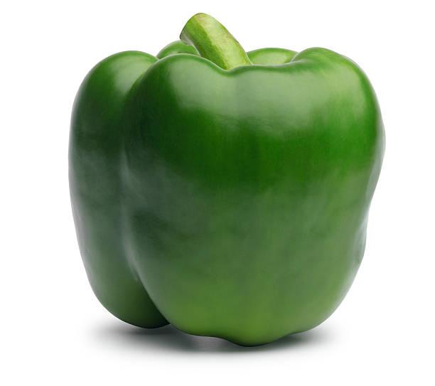 green bell pepper - grüne paprikaschoten stock-fotos und bilder