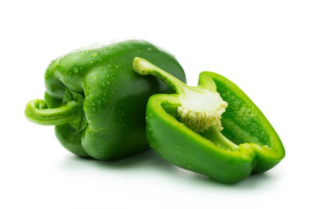 green bell peppers - papryka słodka zdjęcia i obrazy z banku zdjęć