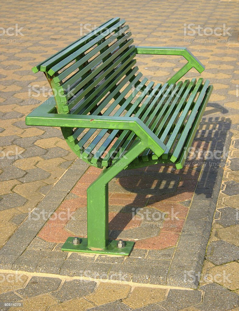 green bench royalty-free stock photo