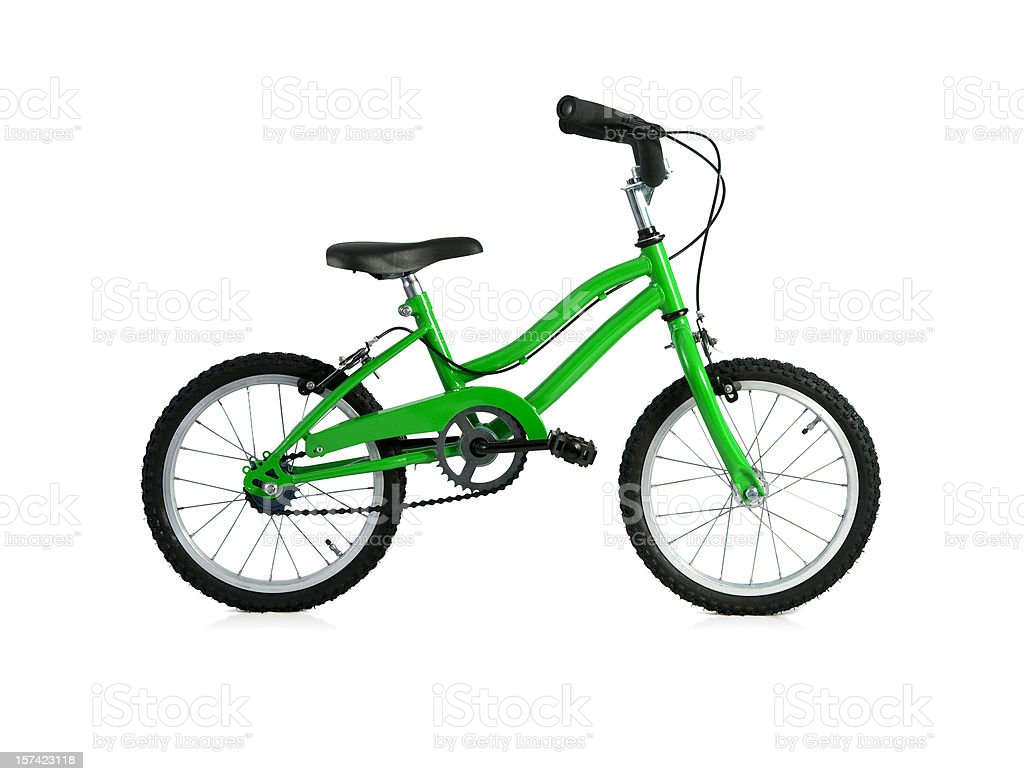 Green Bicycle w/Full Clipping path royalty-free stock photo