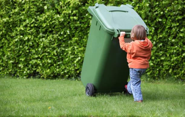 green bin stock photo