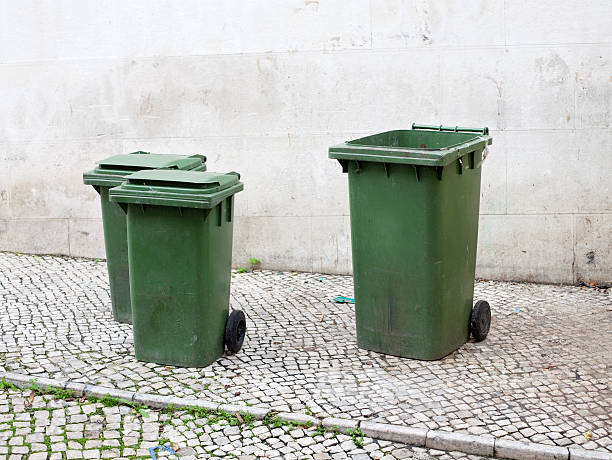 green bins stock photo