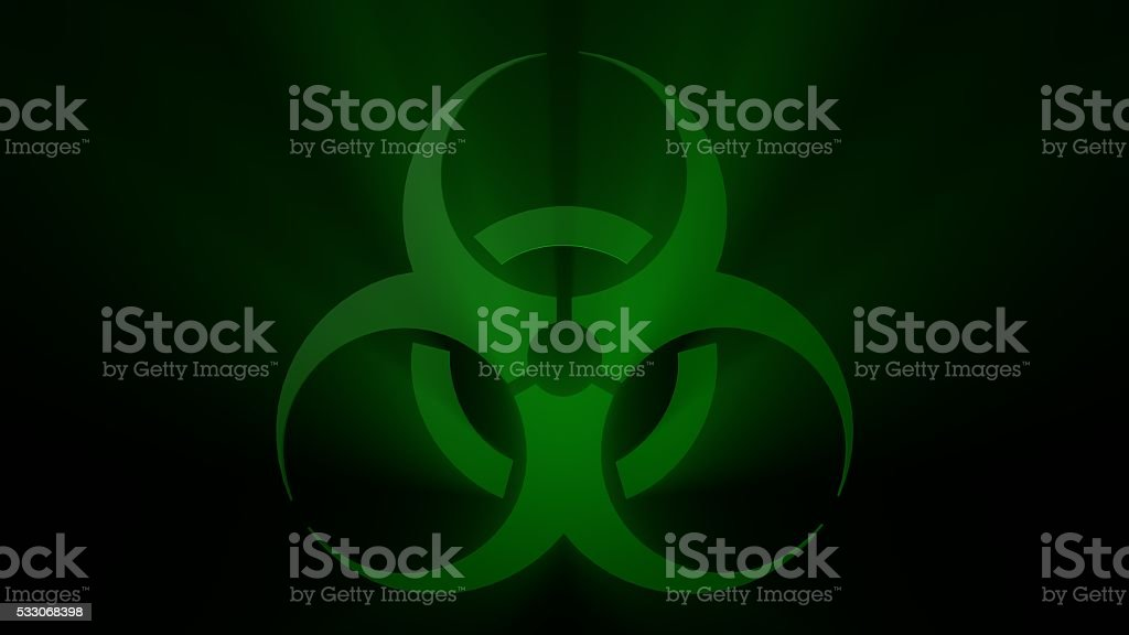 Green Biohazard Sign stock photo
