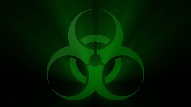Green Biohazard Sign stock photo