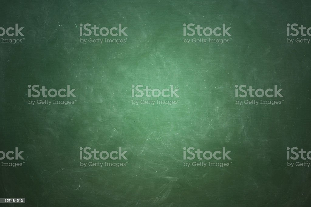 Green blackboard with white chalk streaks royalty-free stock photo
