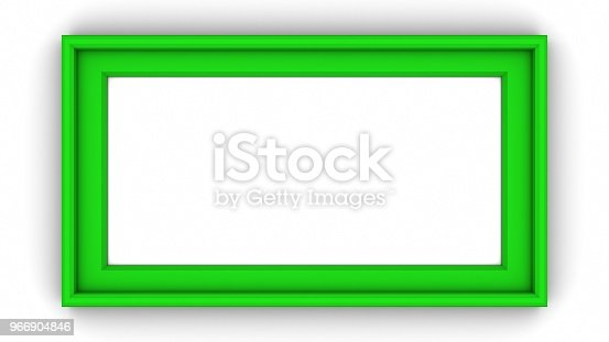 1144461291 istock photo Green blank frame on white background. 3d rendering 966904846