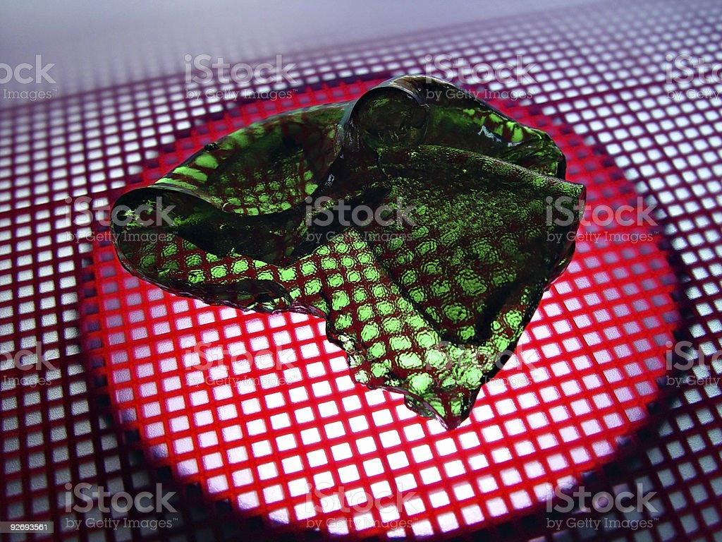 Green Blob Experiment royalty-free stock photo