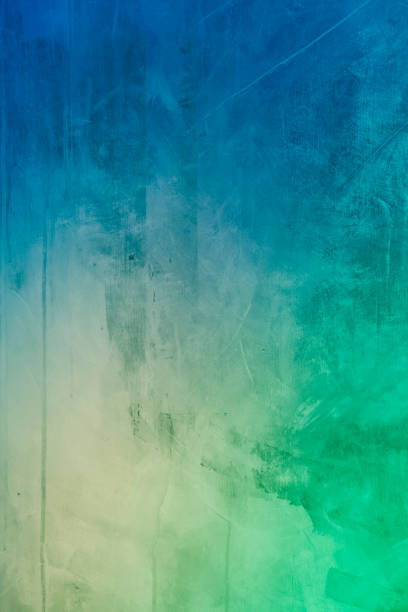 green blue abstract art painting background stock photo