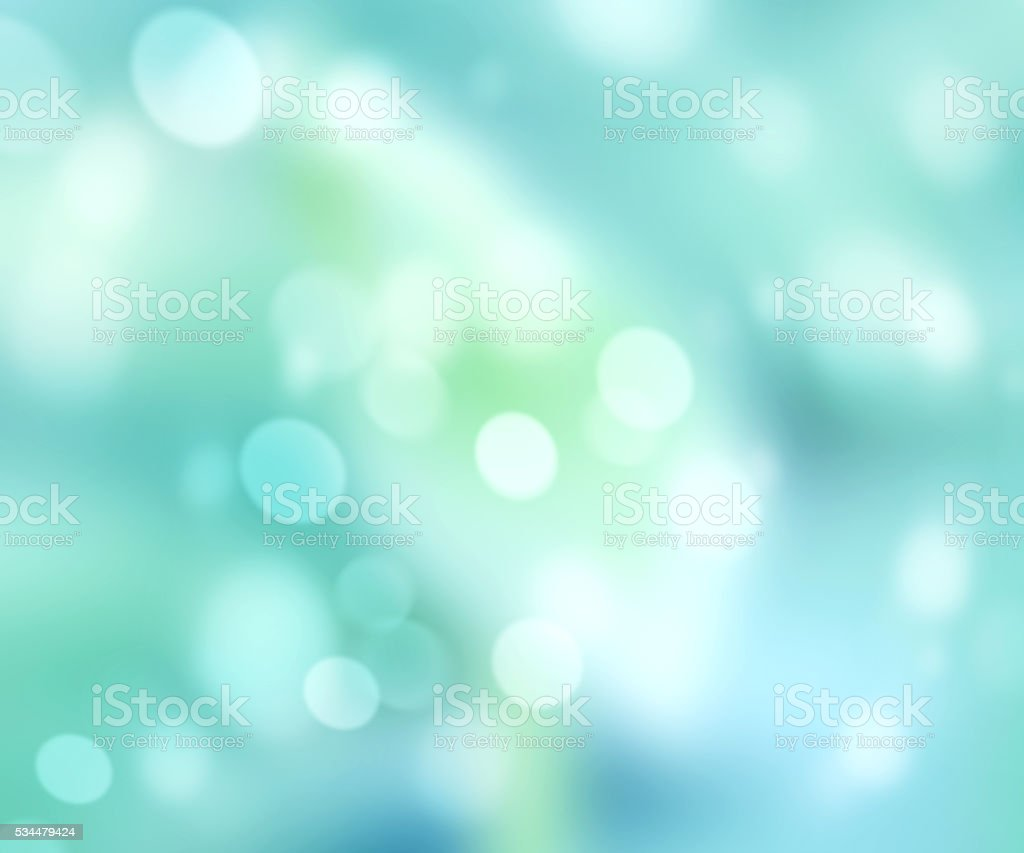 Green blue natural abstract bokeh background. stock photo