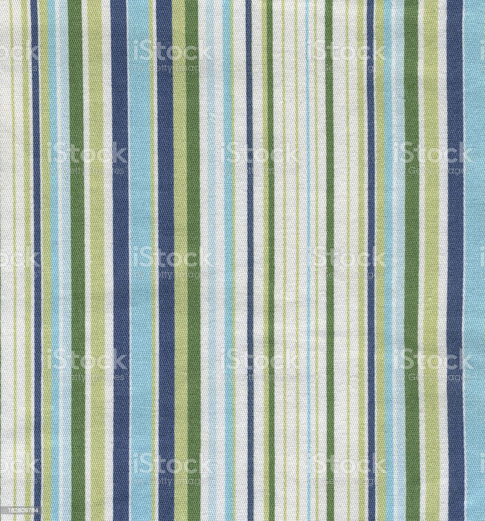 Green & Blue Striped Fabric royalty-free stock photo