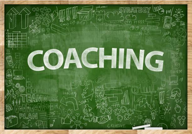coaching / green board konzept (klick für mehr) - kreatives schreiben übungen stock-fotos und bilder