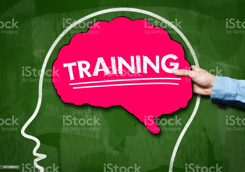 TRAINING / Green Board concept (Click for more) stock photo
