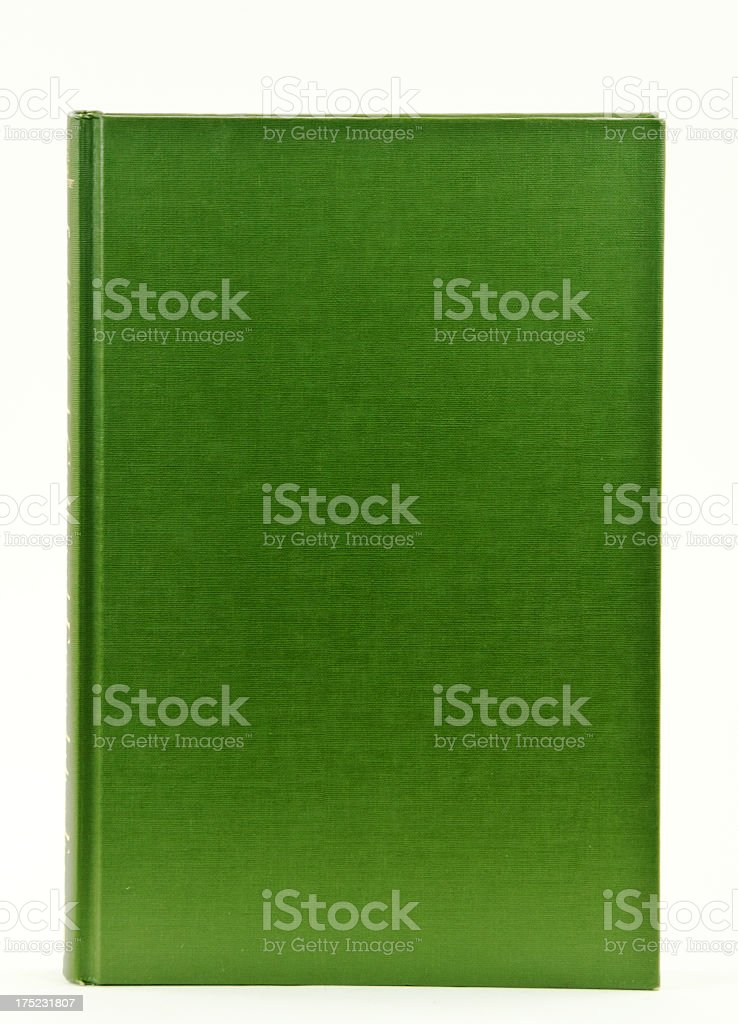 Green Book Cover with Copy Space royalty-free stock photo