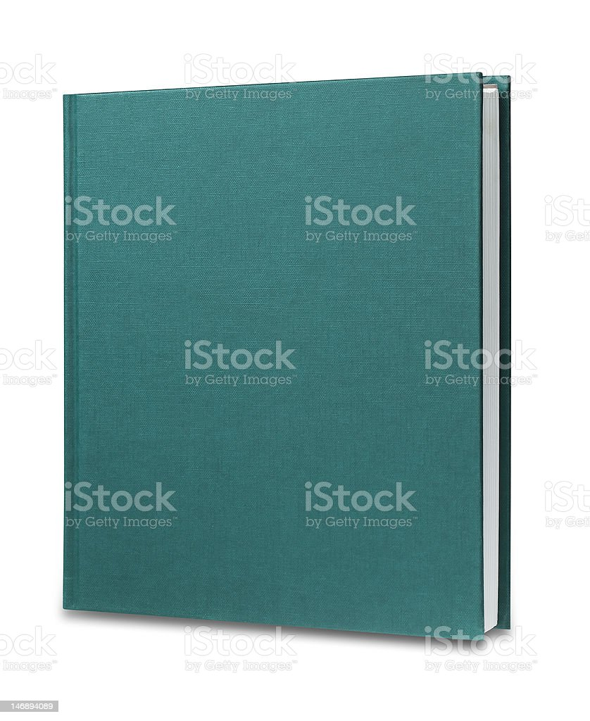 Green book, isolated royalty-free stock photo