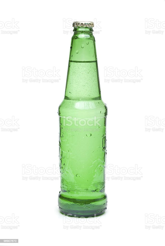Green bottle of water. royalty-free stock photo