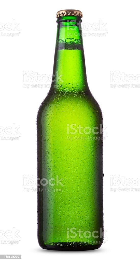 Green bottle royalty-free stock photo