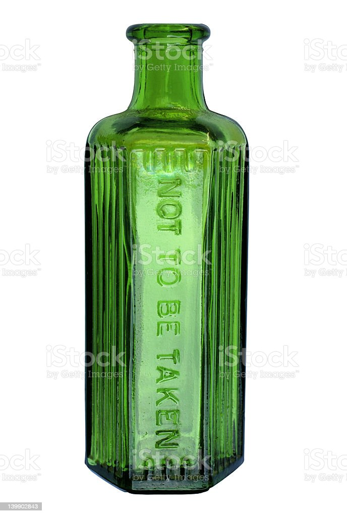 Green Bottle (with clipping path) royalty-free stock photo