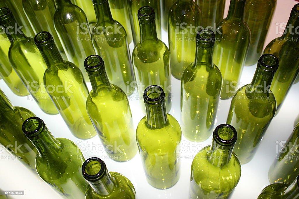 green bottles stock photo